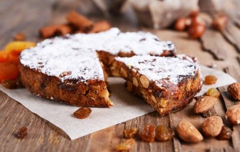 "Panforte is the panettone's denser, bolder cousin. Panforte translates into ""strong bread"" which refers to its heavy aromatic flavors."