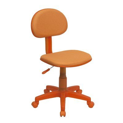 Viv + Rae Jaleel Mid-Back Children's Desk Chair Color: Orange