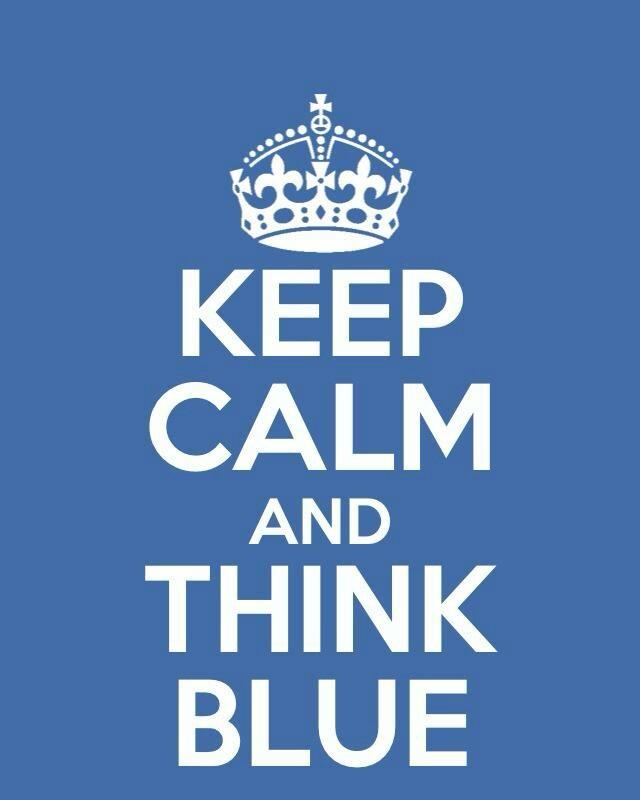 Keep Calm & Think Blue