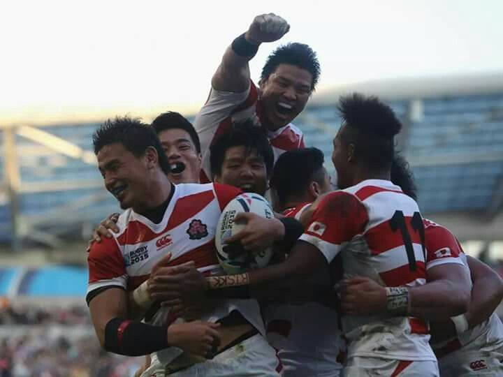 RWC2015 Japan defeated South Africa.