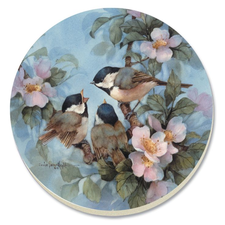 Chickadees Coaster  #Chickadees #Coaster #CounterArt