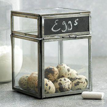 Oni Glass Chalkboard Box