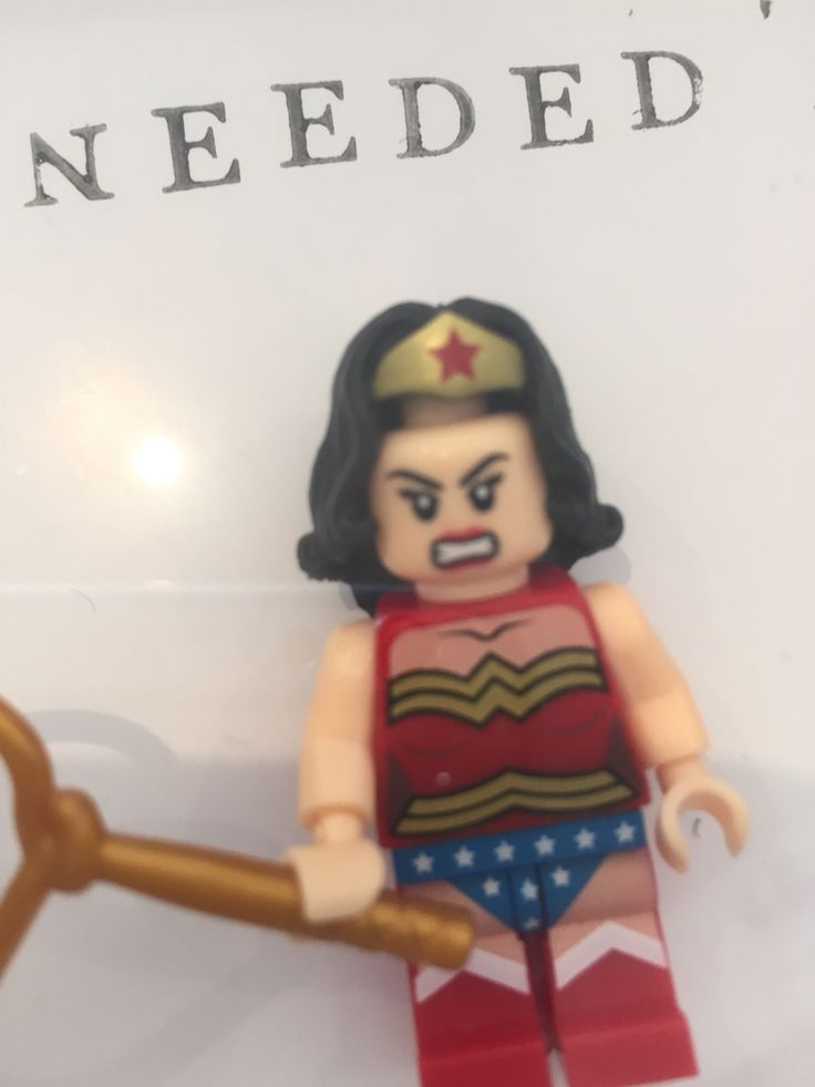 The crafty bugger - Wonder Woman even has a bad hair day!