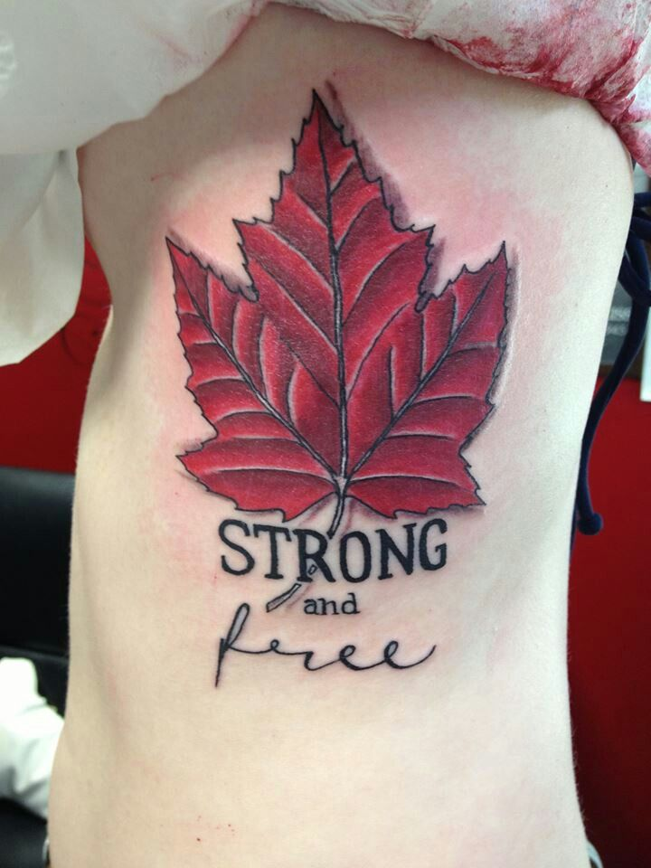 78 best canadian tattoos images on pinterest canadian tattoo canadian tattoont love the leaf but like the wording sciox Choice Image