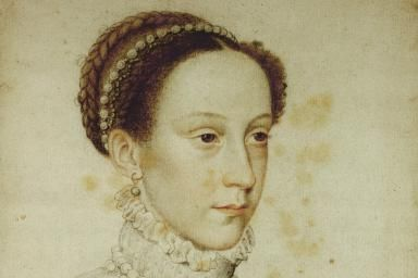 Mary, Queen of Scots: Her Tragic Story: Mary, Queen of Scots: Crayon, 1559, by Jean Clouet