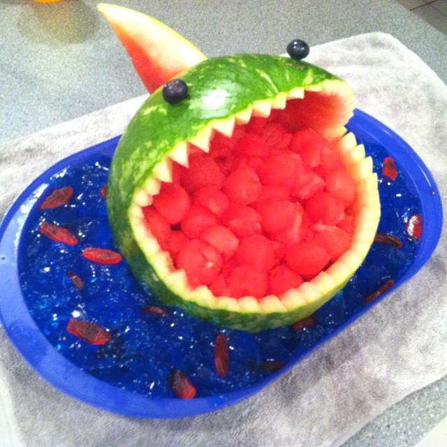 Best ideas about watermelon shark carving on pinterest