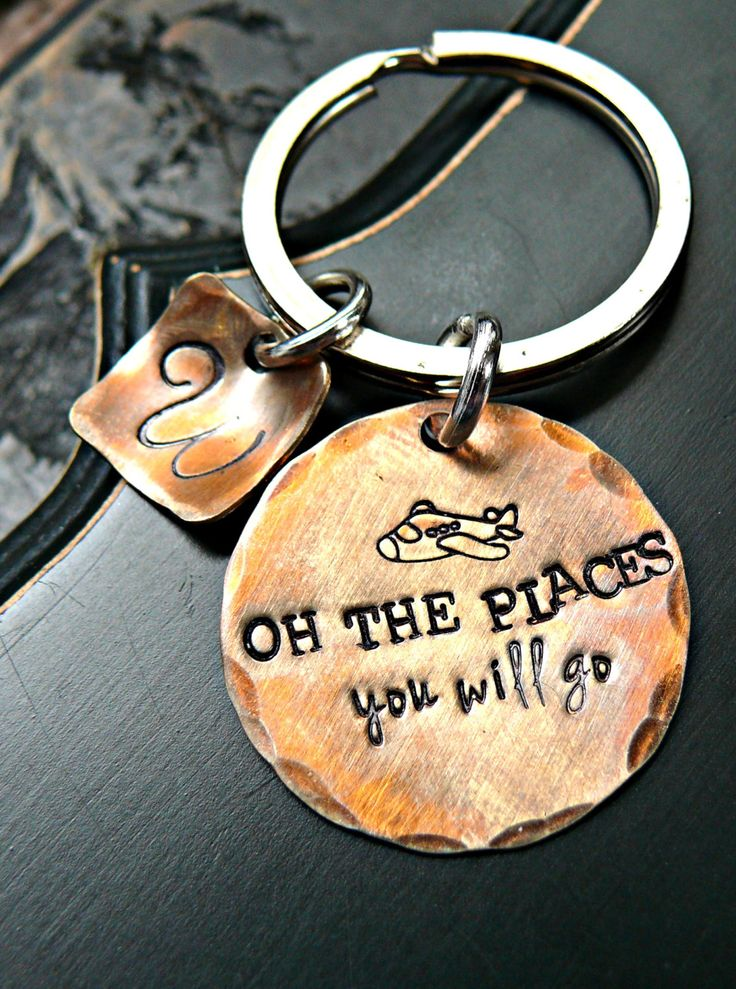 Graduation Gift - Oh The Places You'll Go - Hand Stamped ...