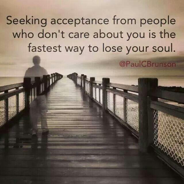 """The narcissist will never accept you or truly love you. I know it is hard to believe because they seemed to love you and accept you at the beginning, and may have ever-diminishing moments of seeming to """"love"""" you now. It wasn't you, but things they wanted or needed from you. Seeking to have your human needs met in relationship with a narcissist, and seeking reciprocity, is a lost cause. They are not only unwilling, they are simply not capable."""