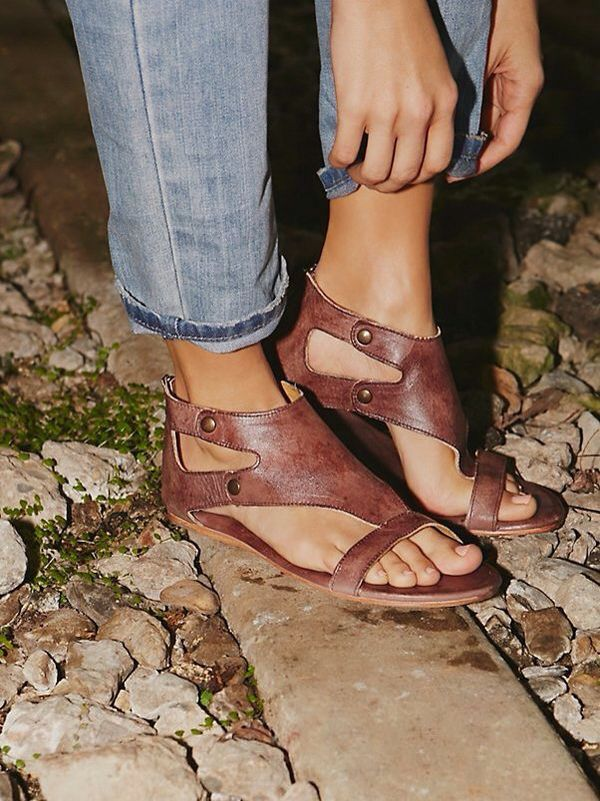 Free People - Soto Washed Leather Sandal