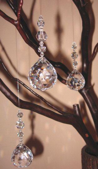 30 Lead Crystal Ornament by madamMANZANITA on Etsy, $3.95 rainbow fun!