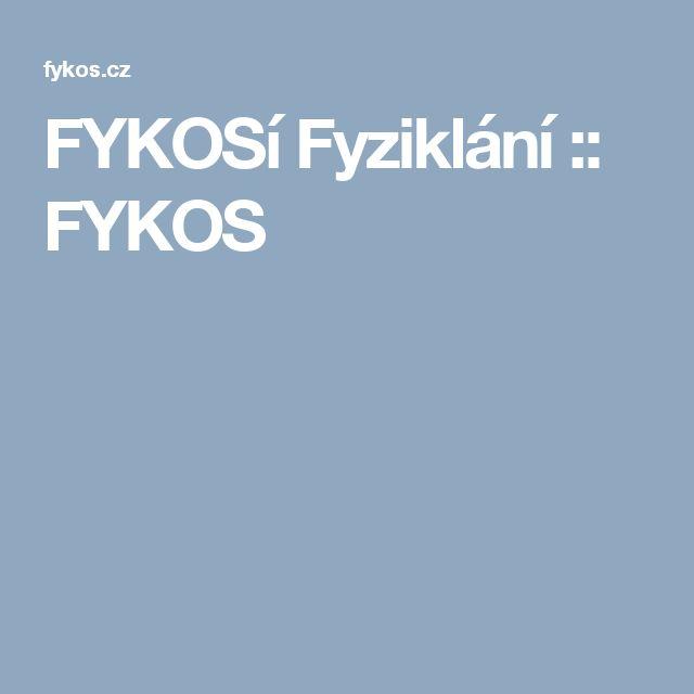 FYKOSí Fyziklání :: FYKOS