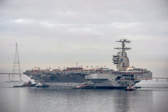 This is America's new $13 billion warship - The US Navy is less than a year away from adding the most expensive warship in history to its fleet, the $13 billion USS Gerald Ford. The USS Ford, the lead ship of the new Ford-class aircraft carrier series, is expected to join the US Navy by February 2016, according to CNN. Once deployed, the ship will be the largest carrier ever to ply the seas and will feature a number of changes and advancements over the US' current Nimitz-class aircraft…