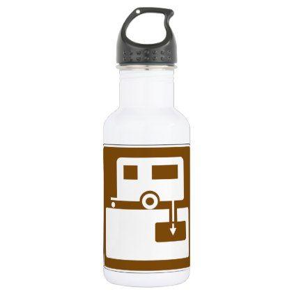 Caravan Park Sign Water Bottle - decor gifts diy home & living cyo giftidea