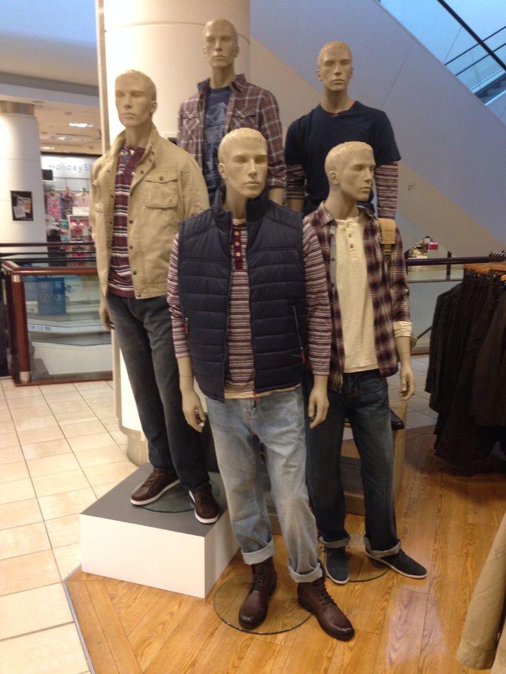 Men's fashion visual merchandising