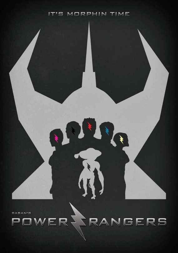 Power Rangers 2017 Movie Poster Alternative by ExtremepandaDesign