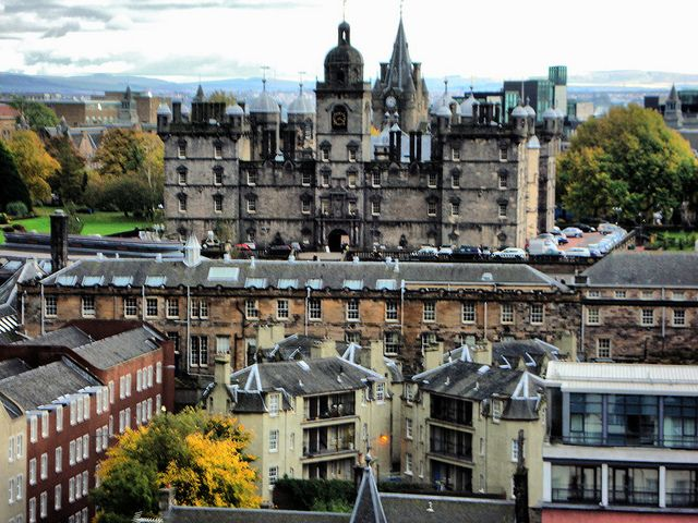 View from Edinburgh Castle, George Heriot's School