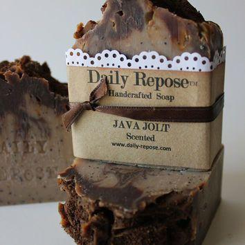 JAVA JOLT COFFEE Handmade Soap Bar  Natural  Vegan Cold Process Soaps