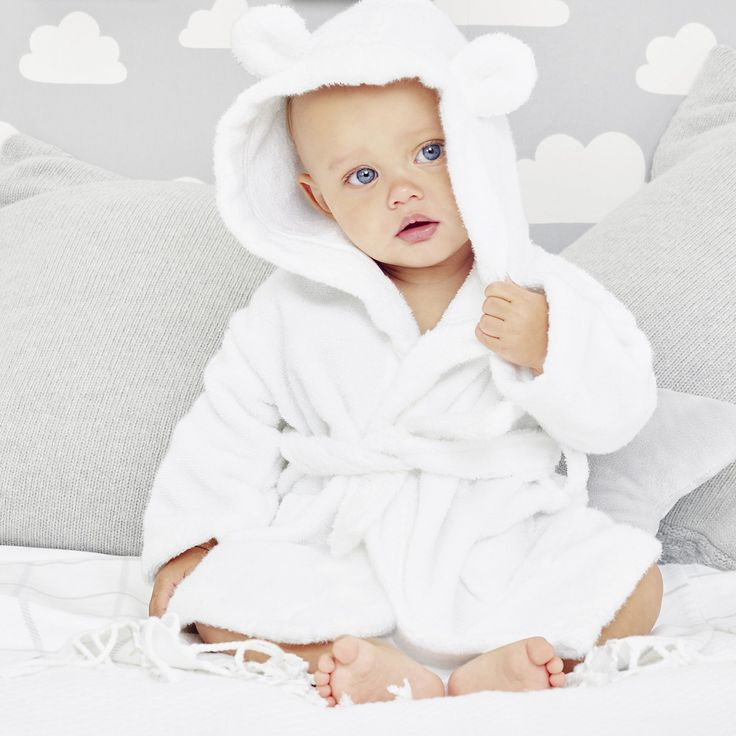 Hydrocotton Baby Robe | Bathtime | Childrens' Bedroom | The Little White Company | The White Company UK