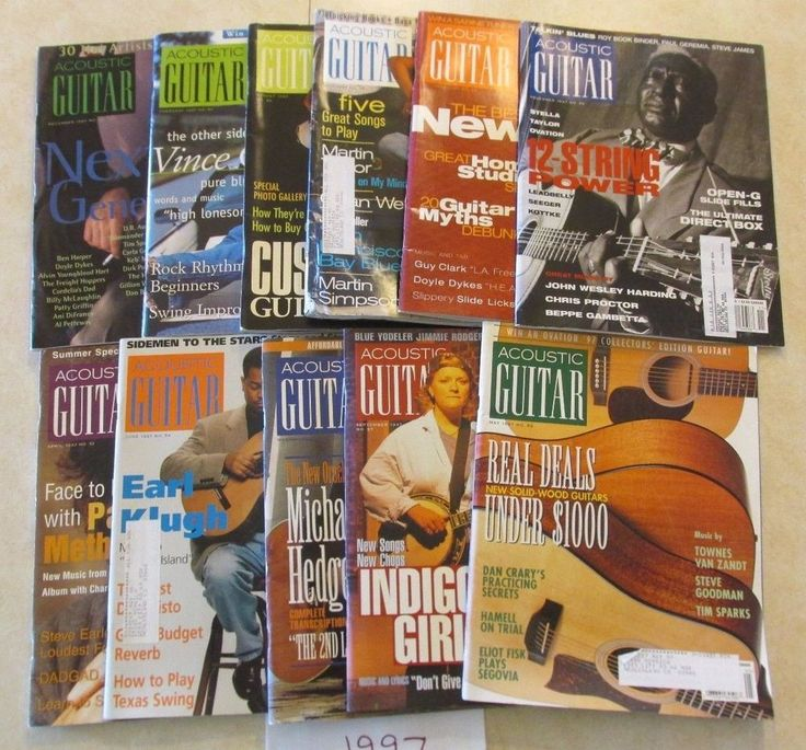 1997 Acoustic Guitar Magazine 11 Issue Lot  Vince Gill Bluegrass and more