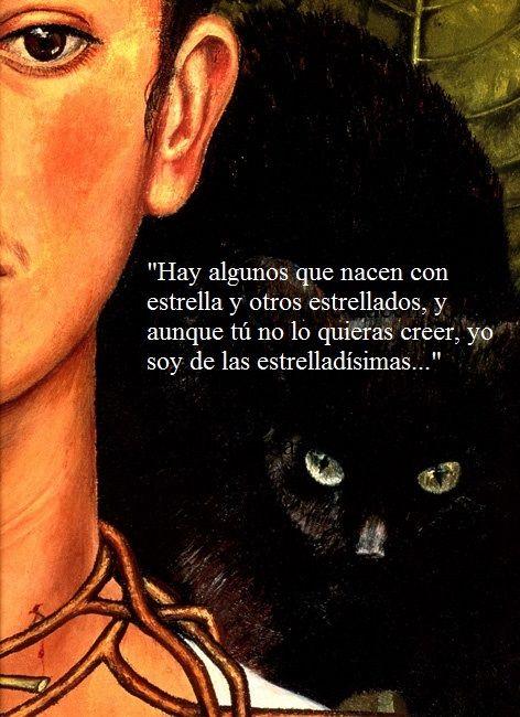 Frase de Frida Kahlo de una carta a Alejandro Arias.