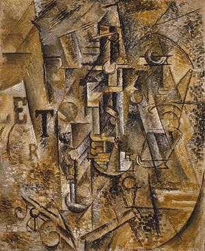 Pablo Picasso: Still Life with a Bottle of Rum. Saw this at The Metropolitan Museum of Art -  New York.