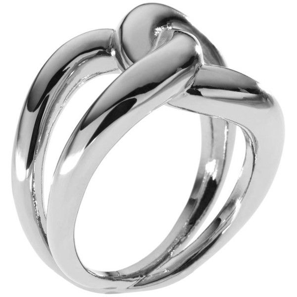 Michael Kors Love Knot Ring, Silver Color ($65) ❤ liked on Polyvore