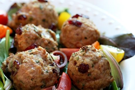 turkey cranberry and basil meatballs for a bite size taste of thanksgiving main dish style pinterest bite size thanksgiving and favorite recipes
