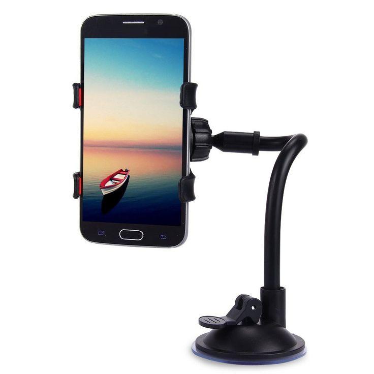 Mobile Phone Car Mount Bracket Holder Stand 360 Degrees Rotation Universal Cars Windshield Long Arm Smartphone Cars Holder
