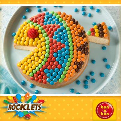 Torta bon o bon y Rocklets.  Hacé click en la imagen para ver la receta
