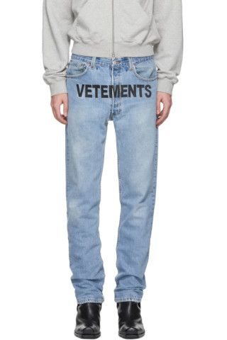83f7215df8c Vetements  Blue Levi s Edition Reworked Jeans