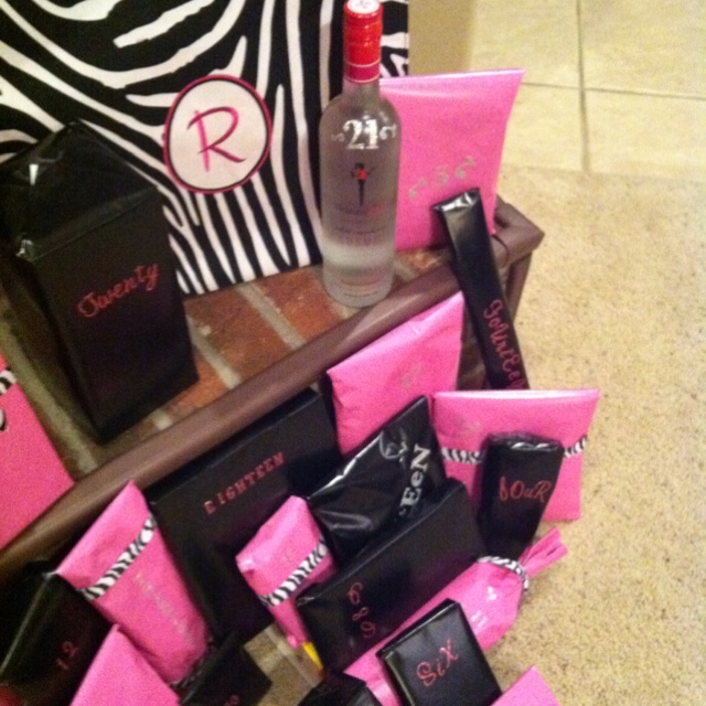 The Cutest 21st Birthday Gift Bag Ever. 21 Gifts All