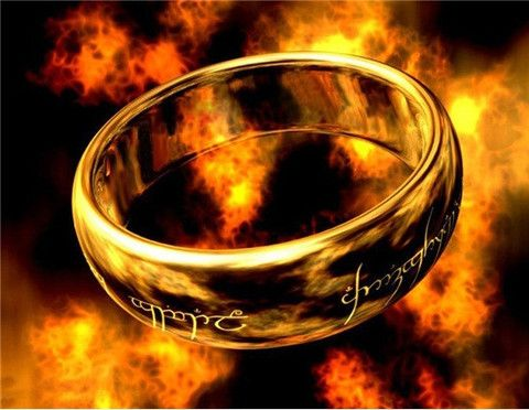 """""""Lord of the Ring""""  Laser Engraving Ring Size 8 - FREE SHIPPING !!!"""