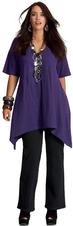 FIJIAN SLUB TEE - Short Sleeved - My Size, Plus Sized Women's Fashion & Clothing