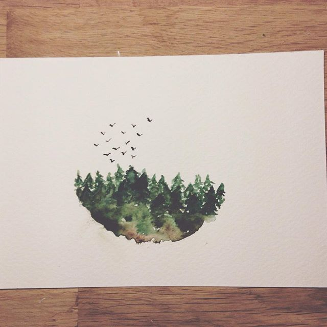 Birds / Trees. Print A5 available upon request to …