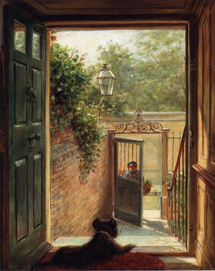 A Painted DoorThe Doors, Artists Eye, Open Doors, Doors Doorway, Doors Painting, Painting Doors, Edward Lamson, Art Painting, Lamson Henry
