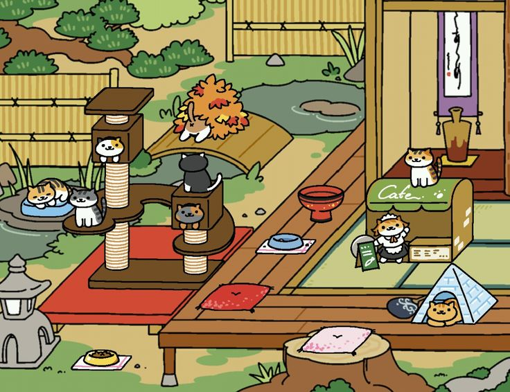 My yard ) Neko atsume, Neko atsume kitty collector, Neko