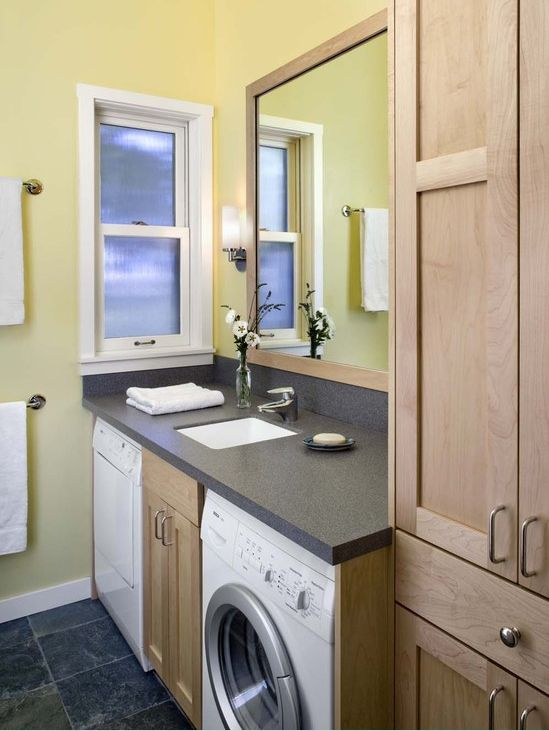 Counter Laundry in Bathroom