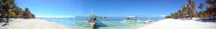 A panoramic view of Calanggaman Island Leyte in Philippines. 05/01/13