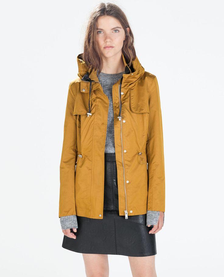 Image 2 of SHORT PARKA WITH WRAPAROUND COLLAR from Zara