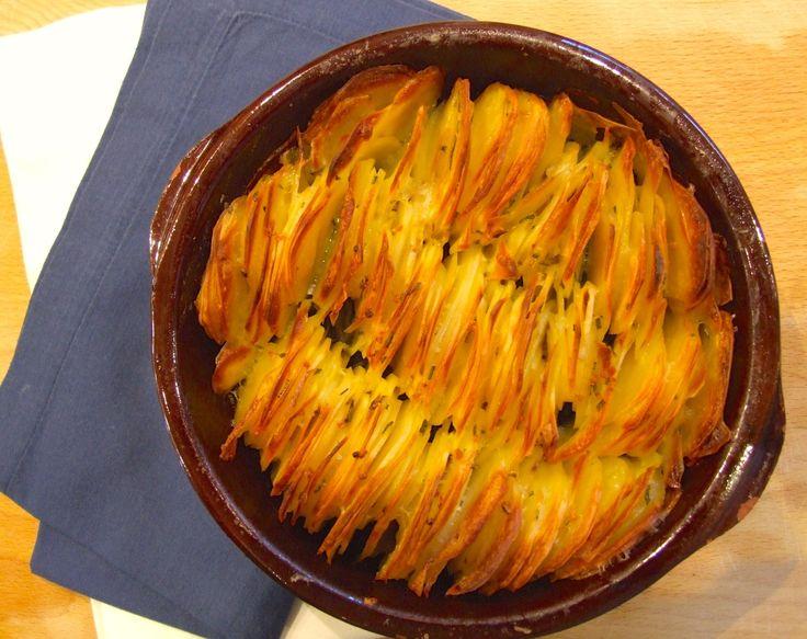garlic rosemary scalloped potato roast