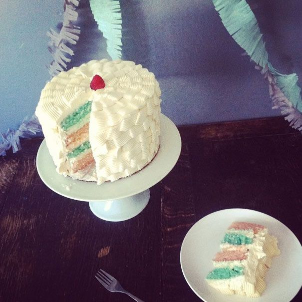cotton candy cake cuteness