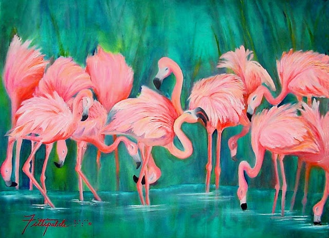 14 best images about birds of a feather on pinterest for Flamingo feather paint