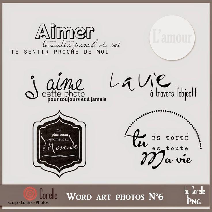 Corelle: Word art en cadeau.... qui: http://cocodigiscrapeuse.blogspot.it/2014/10/word-art-en-cadeau.html