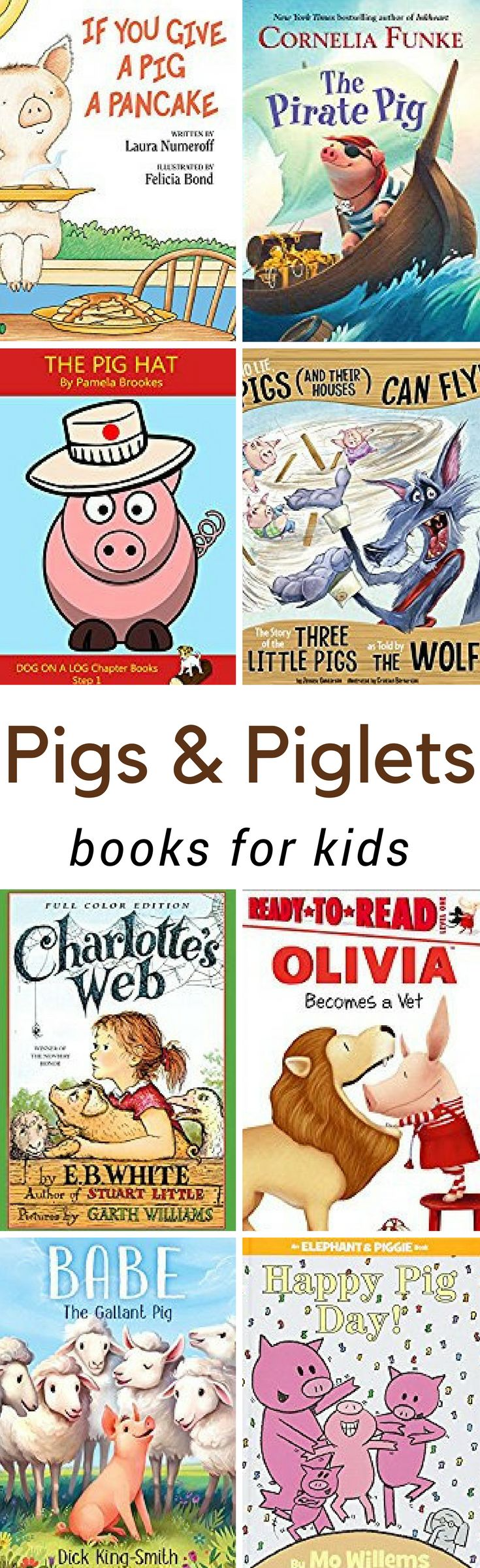 From cute stories to scientific education, thesePig Books for Kidsare sure to help you as you and your children learn about farm animals. These books will help you teach your kids everything there is to know about adorable piglets and pigs.
