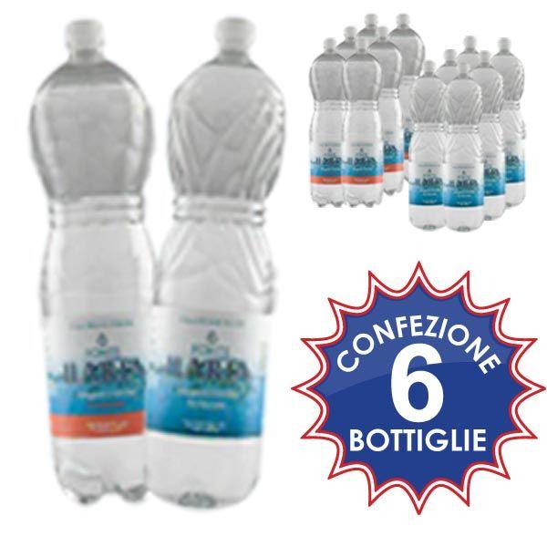 Acqua oligominerale naturale e/o gasata. Conf. 6 bottiglie da lt.1.5 a soli € 1,09!!