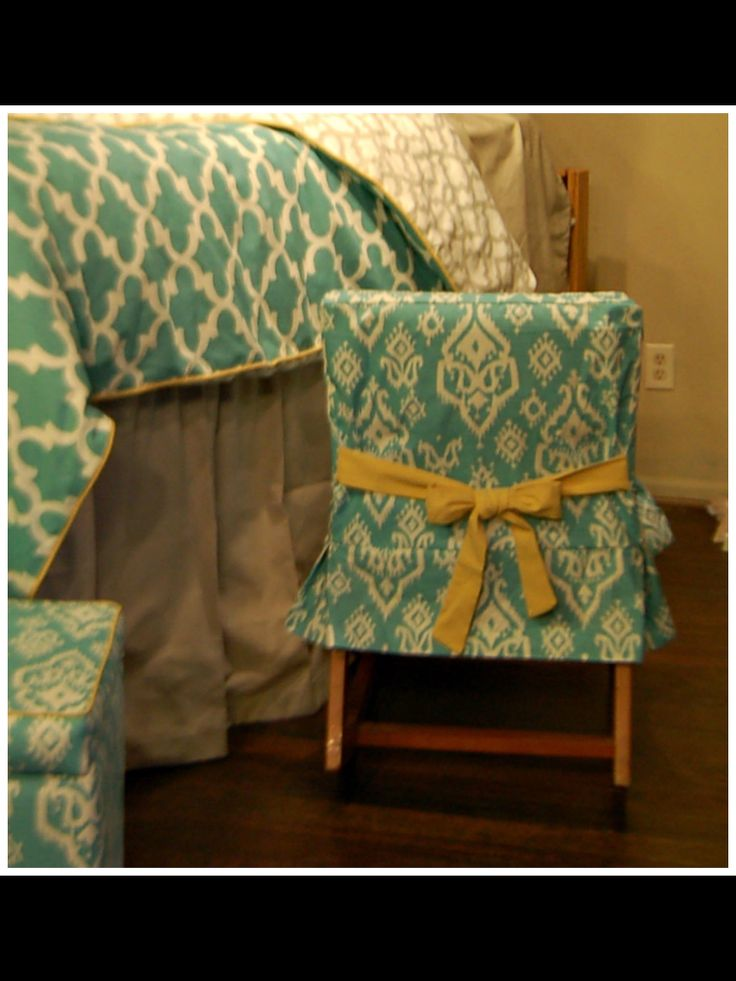 Our Dorm Chair Slipcover! Here It Coordinates With The Custom Bedding In Part 47