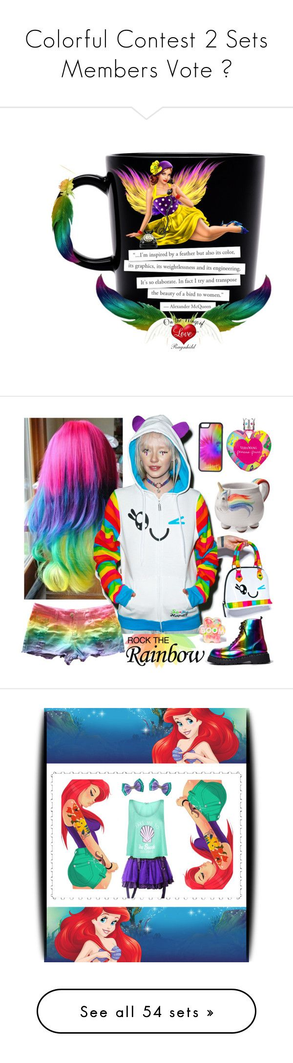"""""""Colorful Contest 2 Sets Members Vote """" by ragnh-mjos ❤ liked on Polyvore featuring contest, colorful, art, Vera Wang, Iron Fist, Elwood, CellPowerCases, T.U.K., Dirty Grl and So So Happy"""