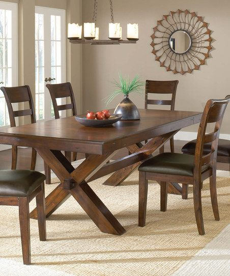 Park Avenue Trestle Dining Table W 2 Leaves By Hillsdale