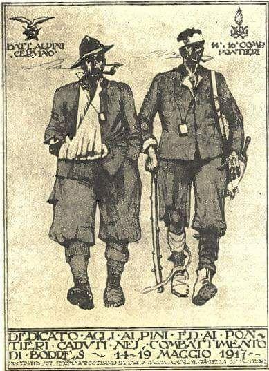 WW1 Illustration commemorating the Alpini, by Paolo Caccia Dominioni