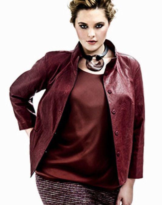 Lafayette 148 Plus Size Leather Jacket